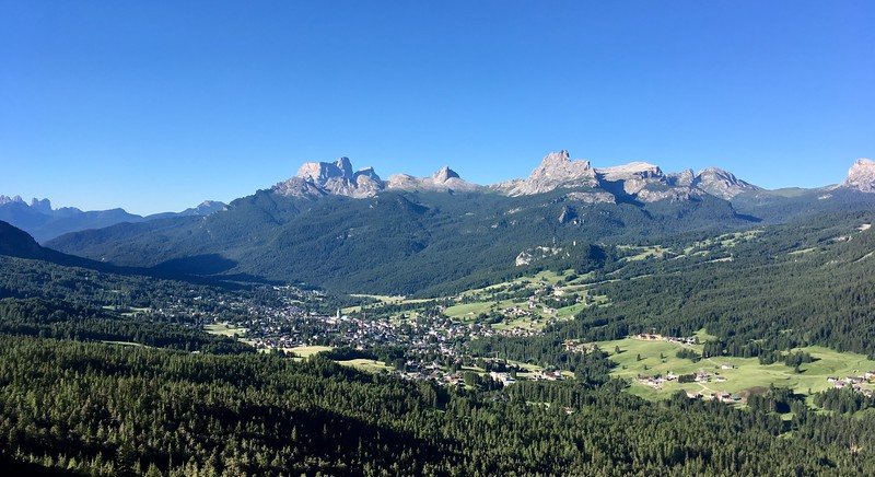 Morning Cortina from the empty trails...