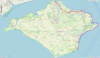 Track around the entire island 115km