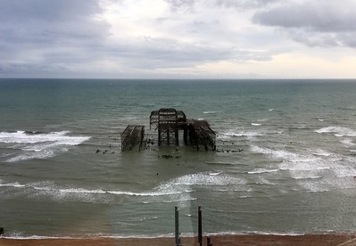 Burnt down West Pier