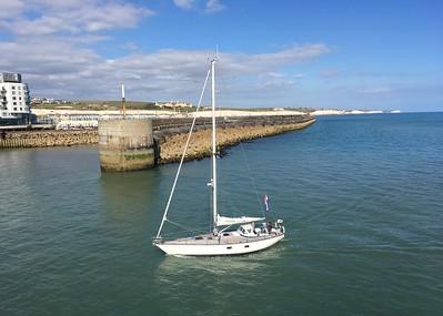 Watching boats come into Marina