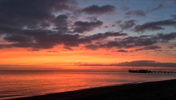 Brighton Pier on Sunday evening walks