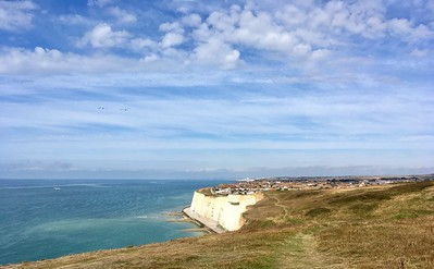 Peacehaven over the cliffs