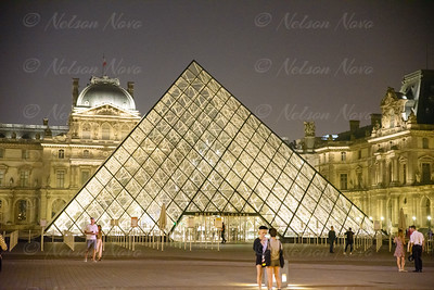 Iconic Louvre at Night