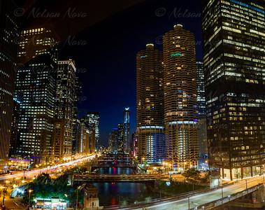 Chicago RIver Nightscape
