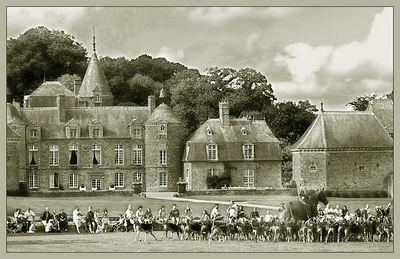 Castello presso Pleugueneuc, circondato da un magnifico parco