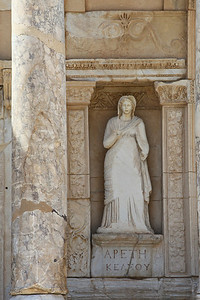 Statue at the Library of Celsus
