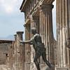 Bronze statue of Apollo near the portico of the sacred area