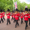 the guard marching by us on the way to Buckingham Palace.