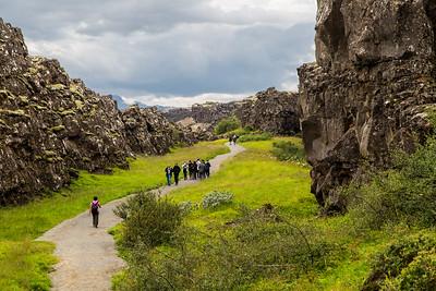 Rift canyon, Pingvellir, Iceland