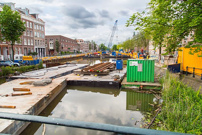 Building a parking lot under the canals.