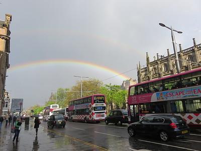 0018 - Edinburgh - Rainbow over Princes Street