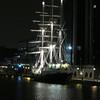 0153 - Ship Docked by Canary Wharf South Quay Bridge