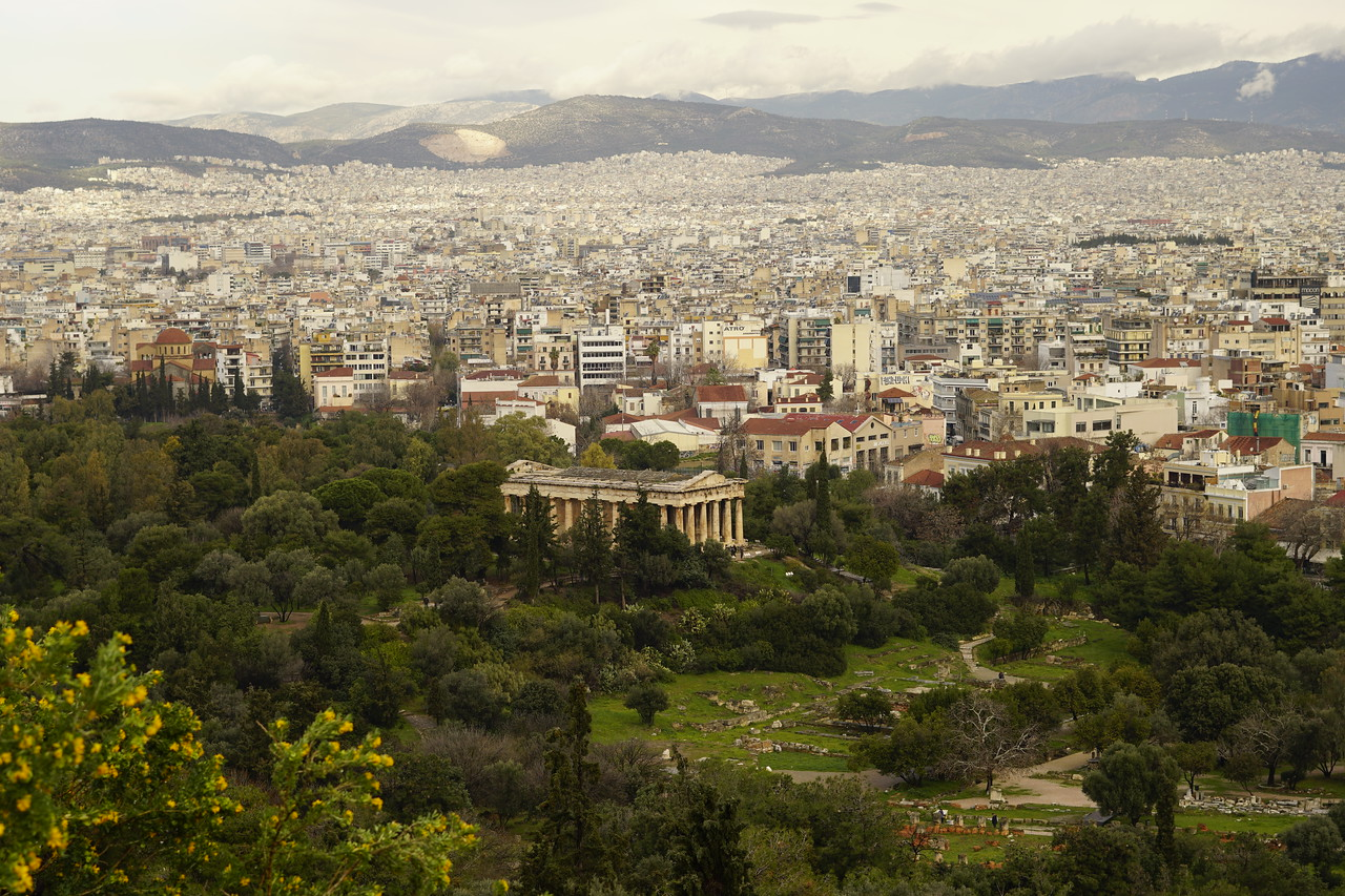 044 - Acropolis - Temple of Hephaestus from Areopagus Hill
