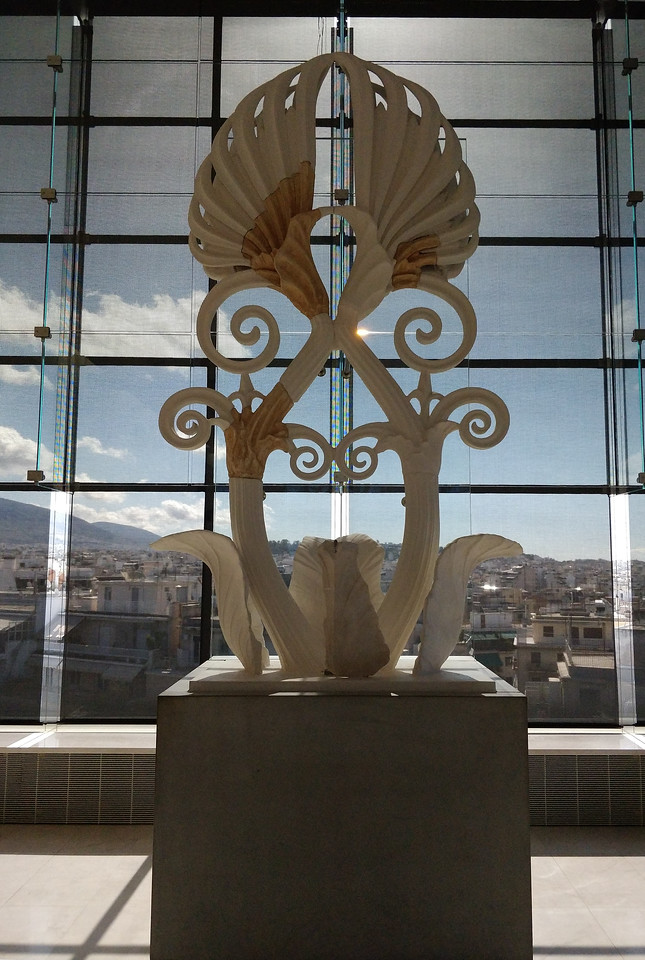 057 - Acropolis Museum - Partially Restored Corner Piece of Parthenon