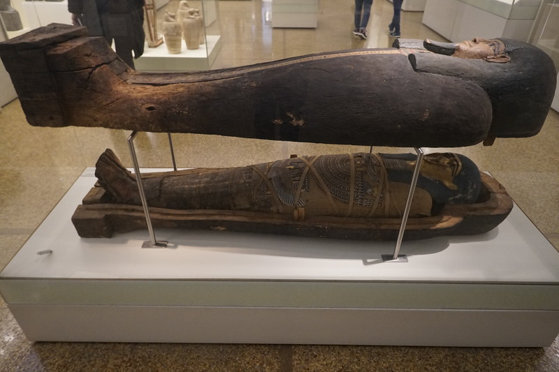 066 - National Archaeological Museum - Egyptian Sarcophagus and Mummy