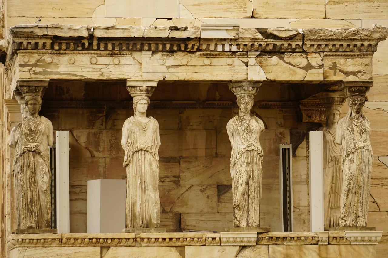 033 - Acropolis - Caryatid Columns on Erectheion