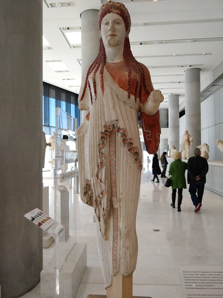 059 - Acropolis Museum - Statue of Athena with Estimated Coloration