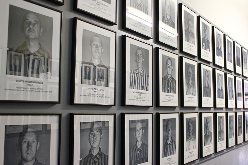 prisoner's photos at Auschwitz concentration camp