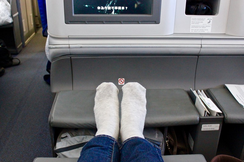 business class seat on LOT Polish Airlines