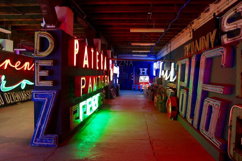 interior of the Neon Muzeum in Warsaw, Poland