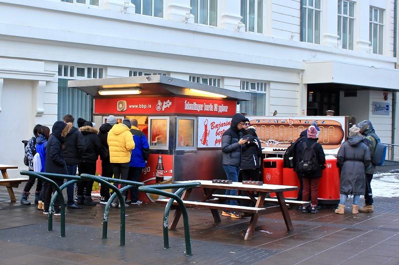 Bæjarins Beztu Pylsur, the best hot dog in Reykjavik, Iceland