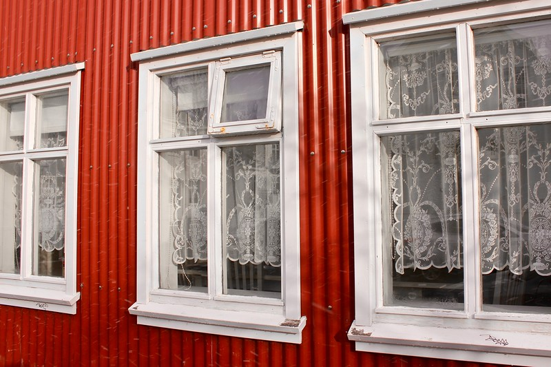 windows of a Reykjavik house