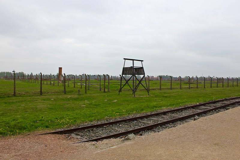 Birkenau extermination camp where the women's barracks once stood