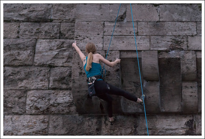 They allow rock climbing on the foundation that supports the bridge.