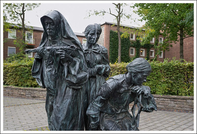On the way to visit St. Gereon Church we happened upon this holocaust memorial and tribute to Edith Stein who was a catholic nun of Jewish heritage and German birth.  She died in the gas chambers in 1942.