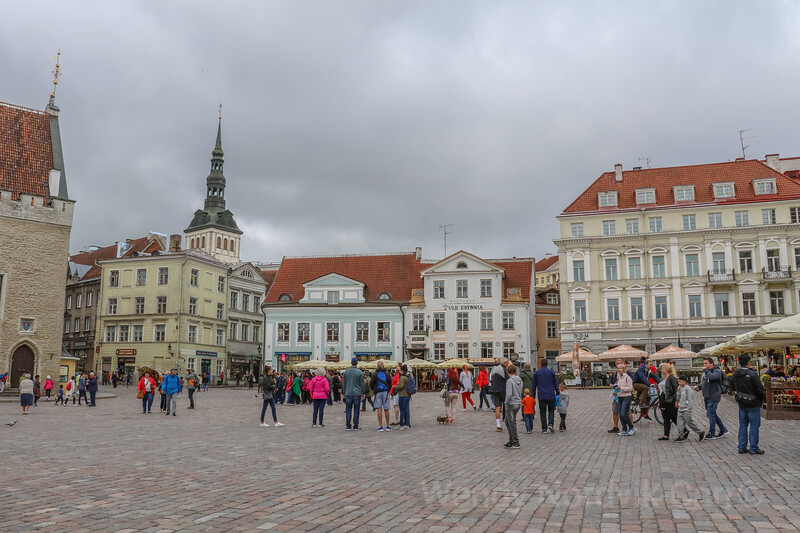 Discover Tallinn's Town Hall Square, medieval architecture, the old walls and towers and cobblestone streets