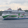 Tallink Shuttle departs Tallinn Estonia harbour