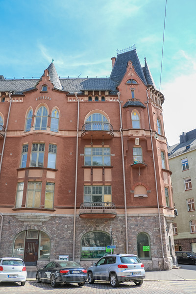 The romantic architecture of Old Town Helsinki, Finland