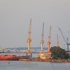 Port and cranes Warnemünde, Germany