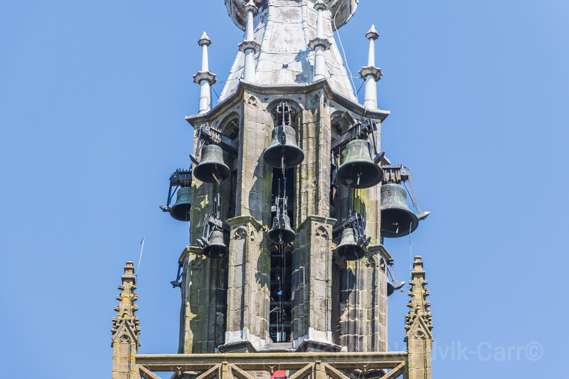 The historic 16th century bells of The Great Church, Our Dear Lady, Edam, North Holland