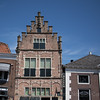 The oldest brick house in Edam, Holland, has a floating cellar