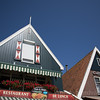 Dutch food - The historic streets of the charming town of Volendam in the Dutch countryside