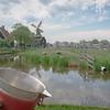 Historic windmills in Zaanse Schans, Netherlands in the Dutch countryside