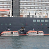 Tenders from leave Zuiderdam Holland America for Lerwick, Scotland
