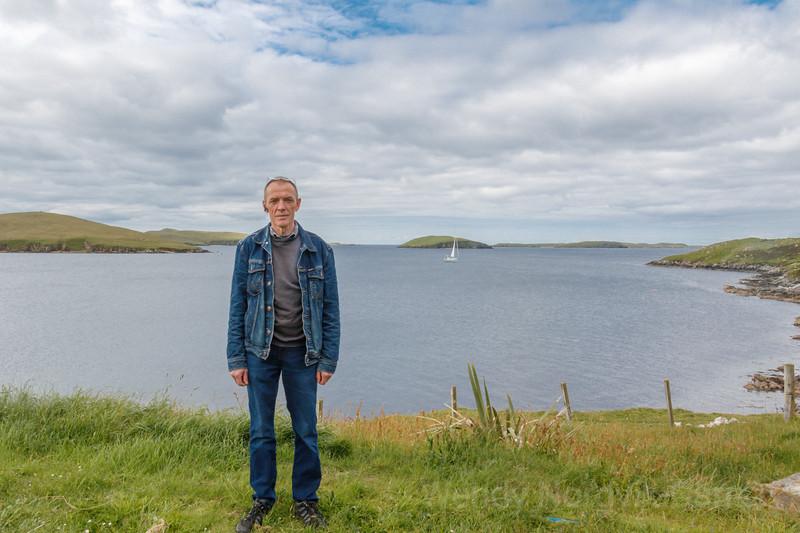 Arthur Inkster at his home Shetland Island