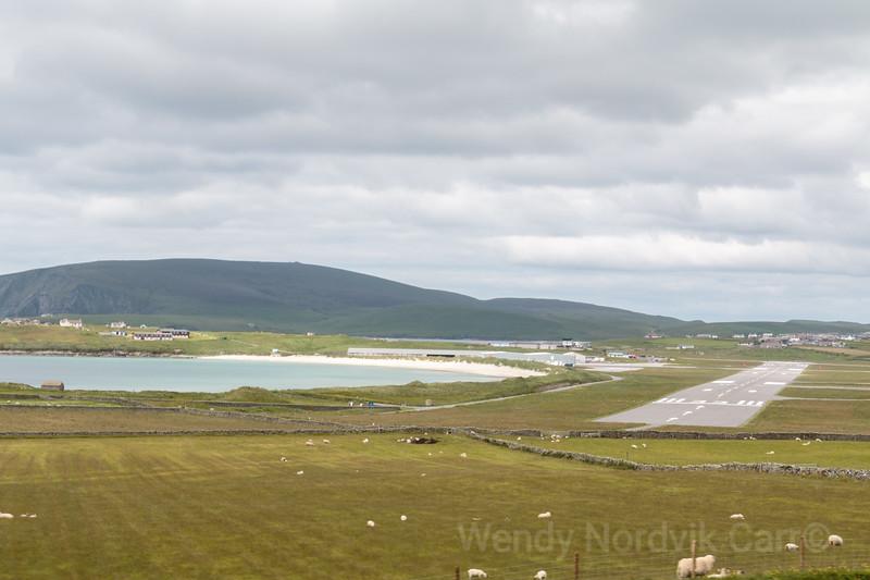 Tingwall Airport on the rugged Shetland Islands