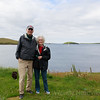 Wendy and Arthur Inkster at his home Shetland Island