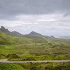 The dramatic landscape of the Quiraing on the Isle of Skye, Scotland
