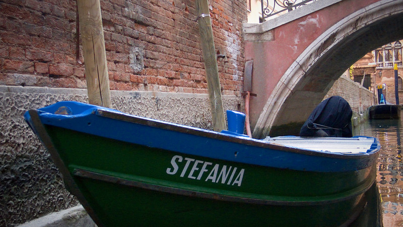 "Either we went in circles or there were a lot of boats with the name of ""Stephania"".  I love the color of this one."