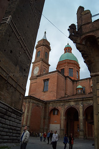 Church behind the towers