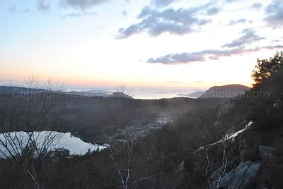 Sunset over Western fjords