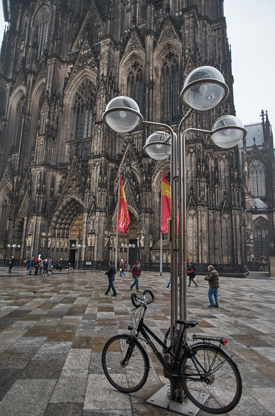 Cathedral and Bicycle