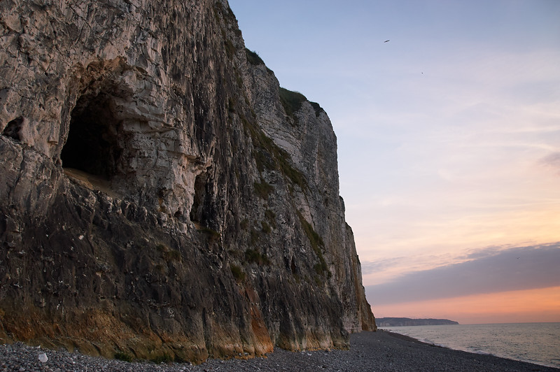 Sea Cave in the Cliff