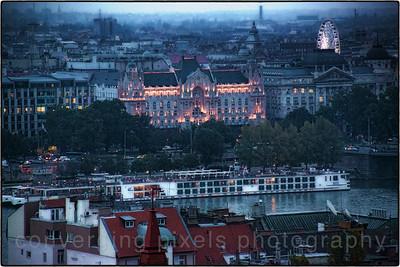 Budapest, Hungary at dusk