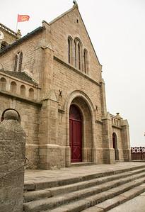 Church along the Normandy Coast, France.