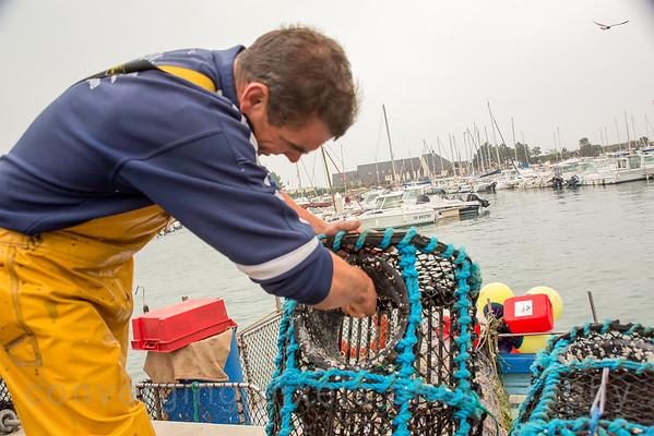 Fisherman in Cherbourg, France.